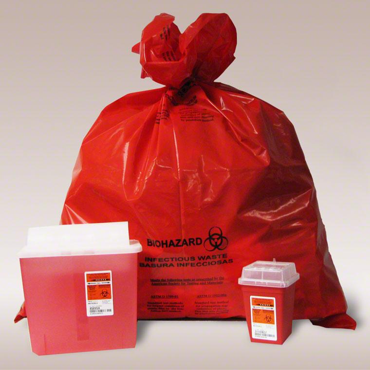 Hazardous And Medical Waste Shredders Red Bag Syringes
