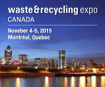SSI to Exhibit at the 2015 Canadian Waste & Recycling Expo in Montreal, Quebec