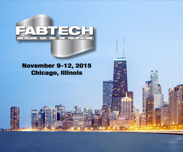SSI Will Be Exhibiting at the 2015 FABTECH Expo in Chicago, Illinois
